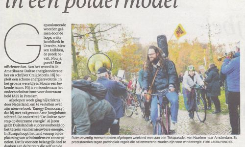 Het Parool November 2016 / Bicycle parade for Green Energy