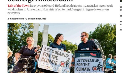 NRC.nl  November 2016 / Article about the campaign